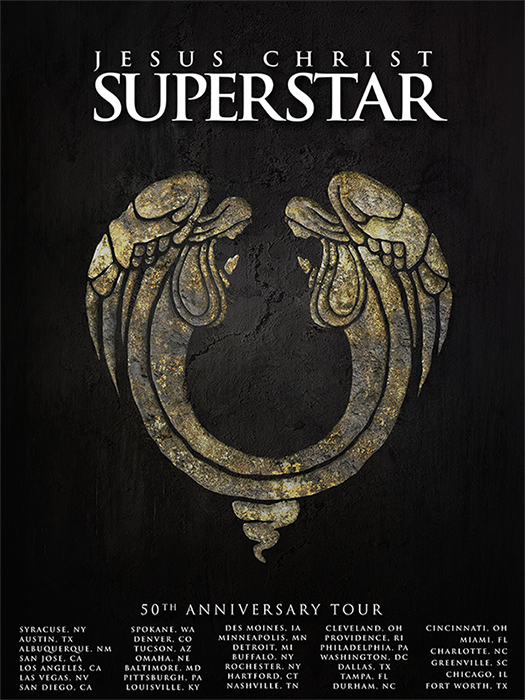 Jesus Christ Superstar 50th Anniversary Tour Poster